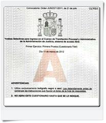 Preguntas del primer Ejercicio (Cuestionario-Test) de Tramitación realizado el día 11/03/2012 Modelo A