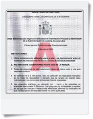 Preguntas del primer Ejercicio (Cuestionario-Test y Supuesto Práctico) de Tramitación realizado el día 03/07/16 Modelo A