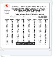 Respuestas oficiales del primer Ejercicio (Cuestionario-Test y Supuesto Práctico) de Tramitación realizado el día 03/07/16 Modelo B