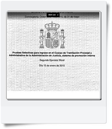 Segundo Ejercicio (Word) de Tramitación realizado el 15/01/2010