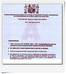 Preguntas del primer Ejercicio (Supuesto Práctico) de Tramitación realizado el día 11/03/2012 Modelo A