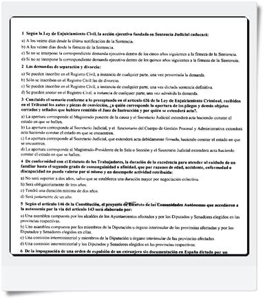 Preguntas del primer y segundo Ejercicio de Auxilio Judicial realizado el 27/11/2010 - MODELO A