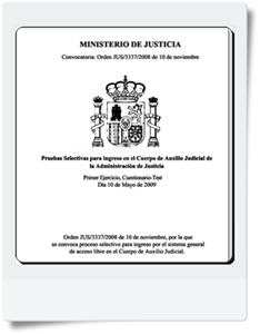 Preguntas del primer Ejercicio de Auxilio Judicial realizado el 10/05/2009