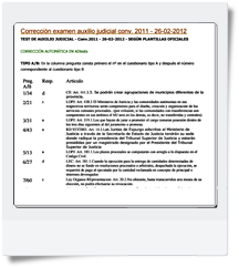Respuestas Oficiales del primer y segundo Ejercicio de Auxilio Judicial realizado El 26/02/2012 - Modelos A y B