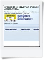 Respuestas oficiales del primer y segundo Ejercicio de Auxilio Judicial realizado el 27/11/2010