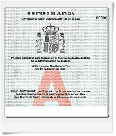 Preguntas del primer Ejercicio de Auxilio Judicial (Cuestionario Test de 100 Preguntas) Realizado el 26/02/2012 - Modelo A